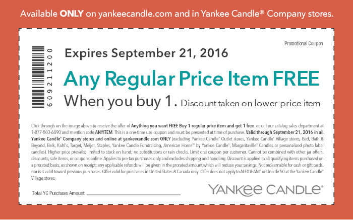 Yankee Candle Coupon January 2018 Second item free at Yankee Candle, or online via promo code ANYITEM