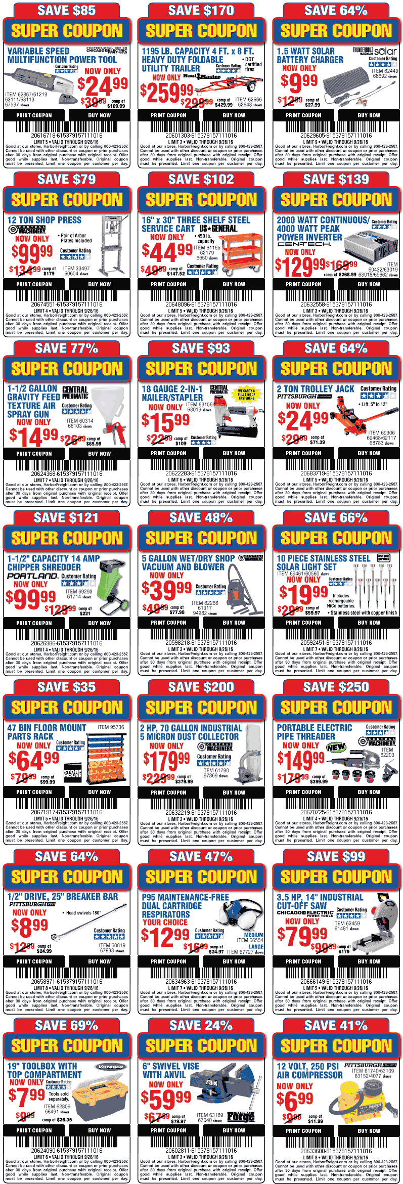 Harbor Freight Tools Coupon April 2017 Various discounts at Harbor Freight Tools