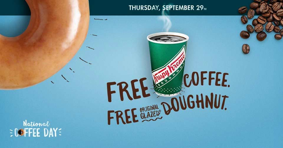 Krispy Kreme Coupon April 2017 Free coffee + doughnut Thursday at Krispy Kreme