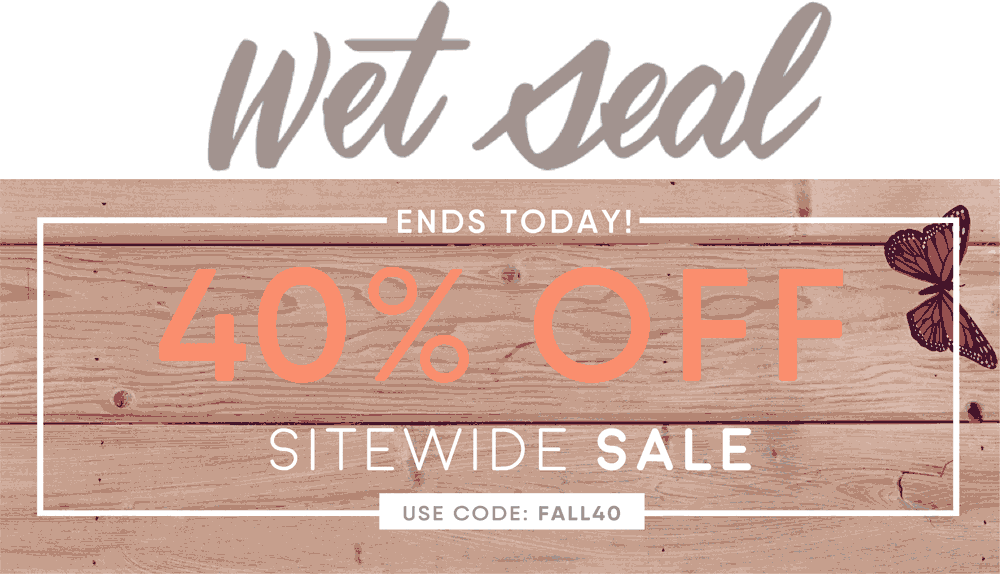 WetSeal.com Promo Coupon 40% off online at Wet Seal via promo code FALL40