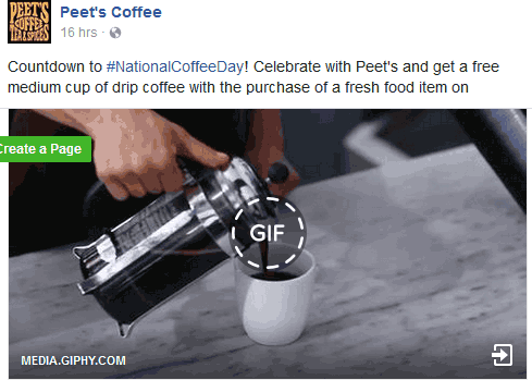 PeetsCoffee&Tea.com Promo Coupon Free coffee with any food item Thursday at Peets Coffee & Tea