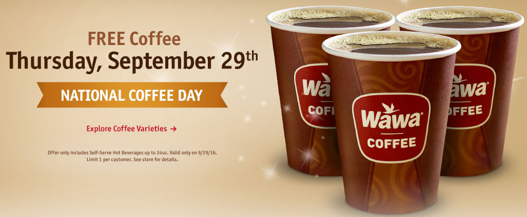 Wawa Coupon November 2017 Free coffee Thursday at Wawa gas stations