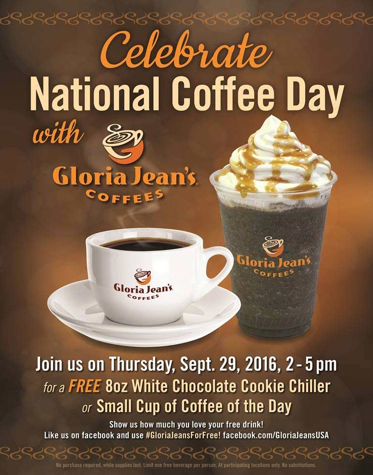 Gloria Jeans Coupon March 2017 Free cookie chiller or coffee 2-5p today at Gloria Jeans coffees