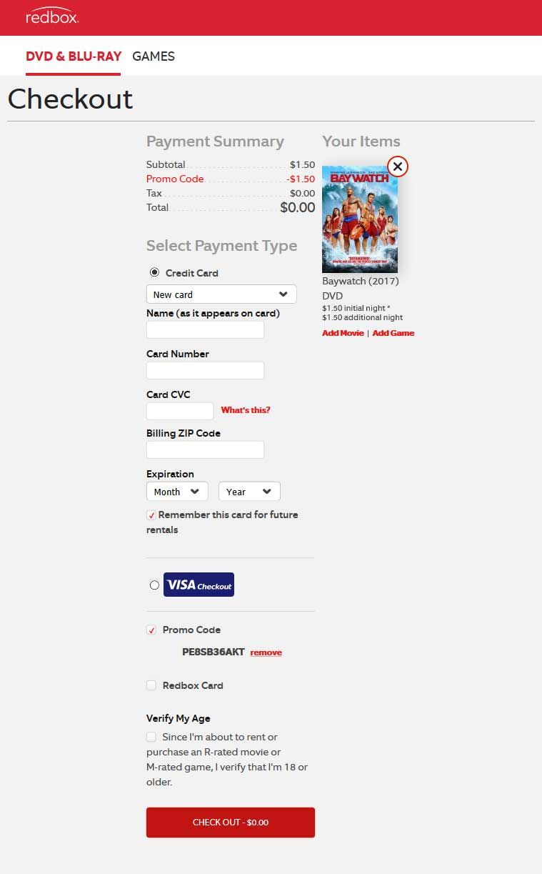 Redbox Coupon August 2019 Free DVD rental at Redbox via promo code PE8SB36AKT