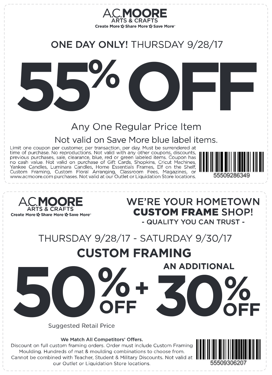 photo relating to Ac Moore Printable Coupons identify A.C. Moore Discount codes - 50% off a one solution at A.C. Moore