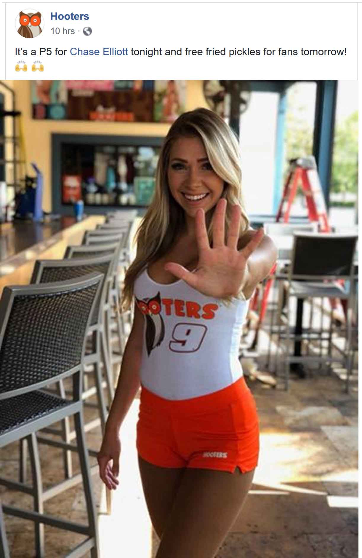 Hooters Coupon July 2019 Free fried pickles today at Hooters restaurants