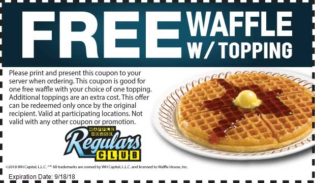 Waffle House Coupon July 2019 Free waffle at Waffle House restaurants
