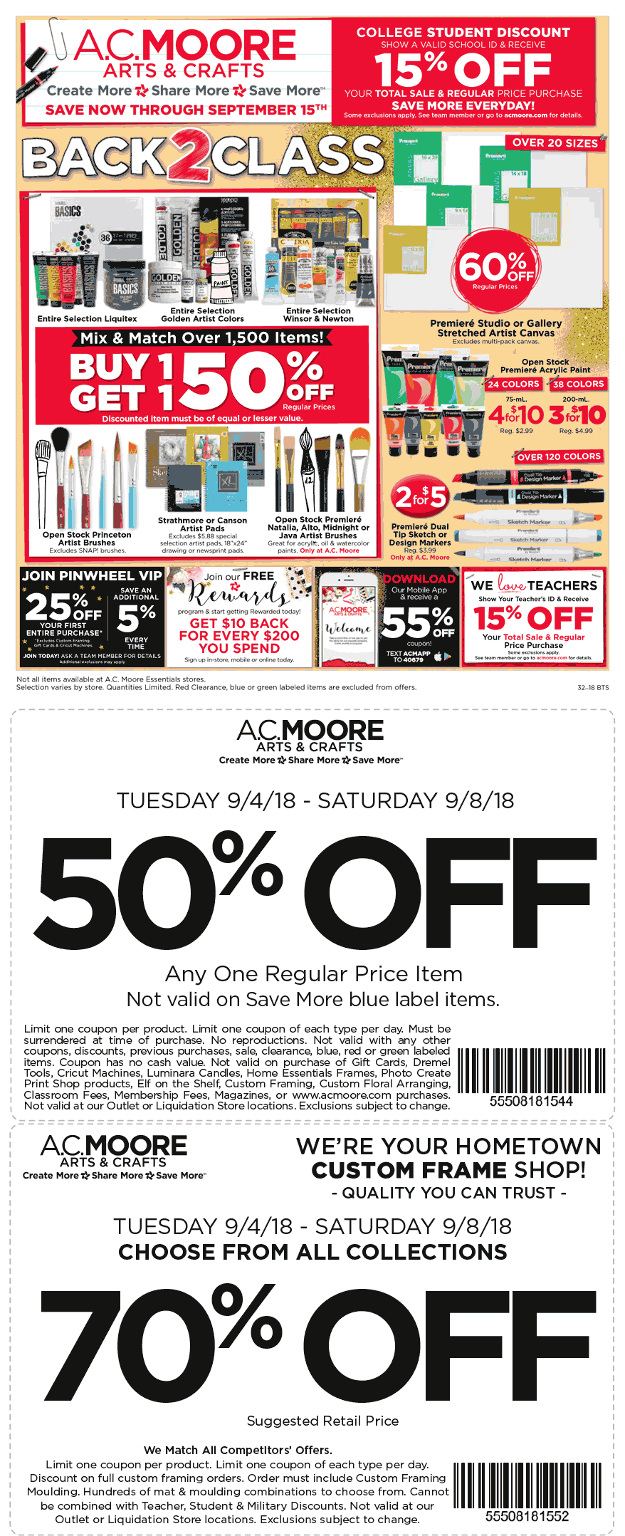 A.C. Moore Coupon July 2019 50% off a single item & more at A.C. Moore