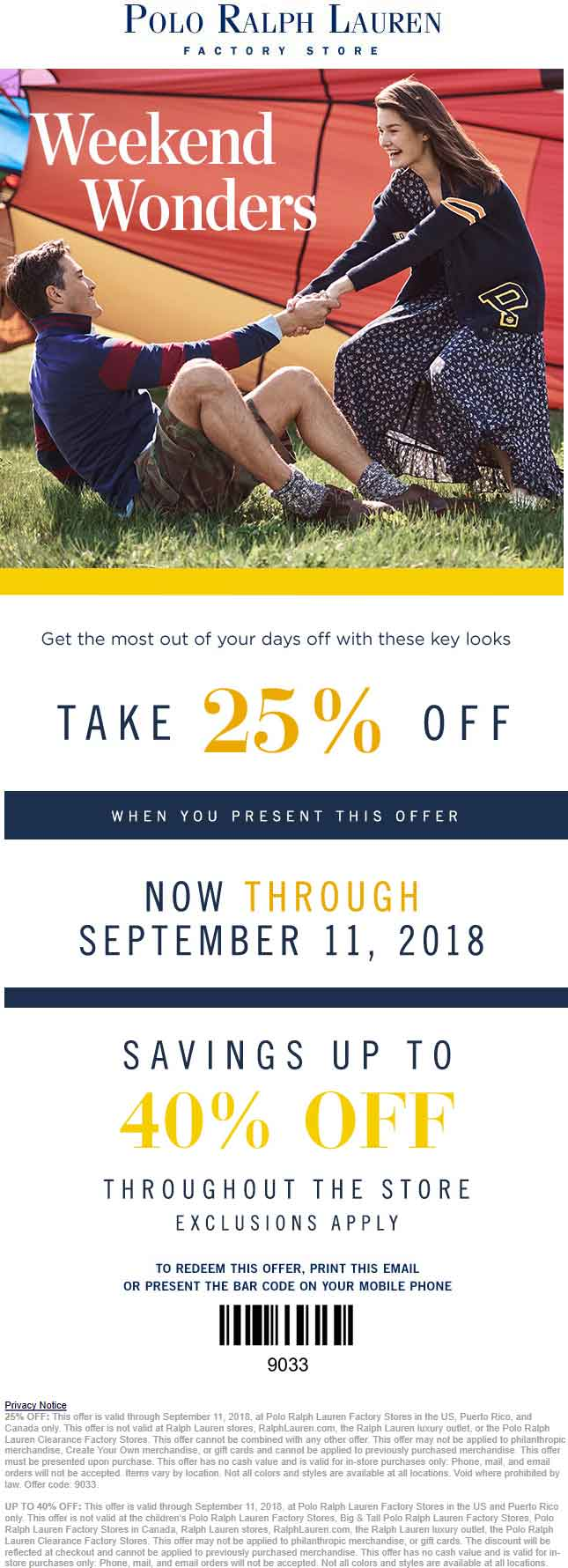 Polo Ralph Lauren Factory Coupon July 2019 25% off & more at Polo Ralph Lauren Factory