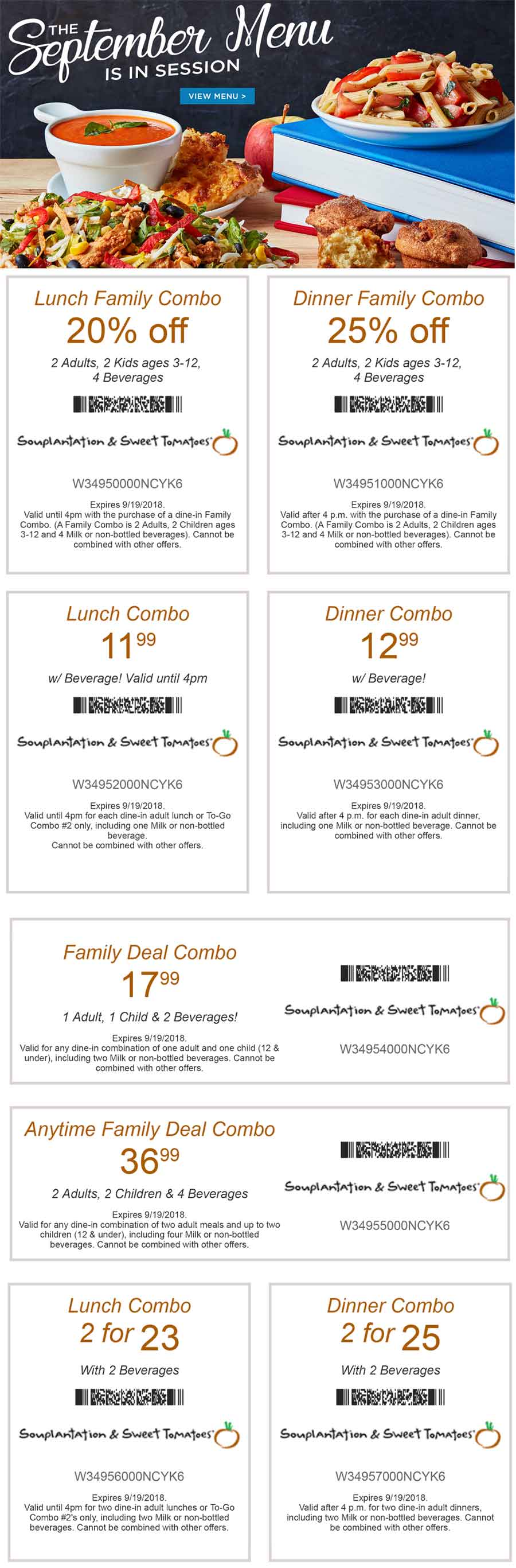 Sweet Tomatoes Coupon May 2019 20% off & more at Souplantation & Sweet Tomatoes restaurants