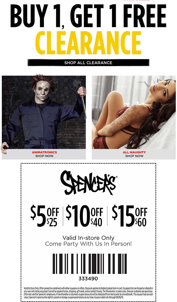 Spencers Coupon November 2019 $5 off $25 & more at Spencers