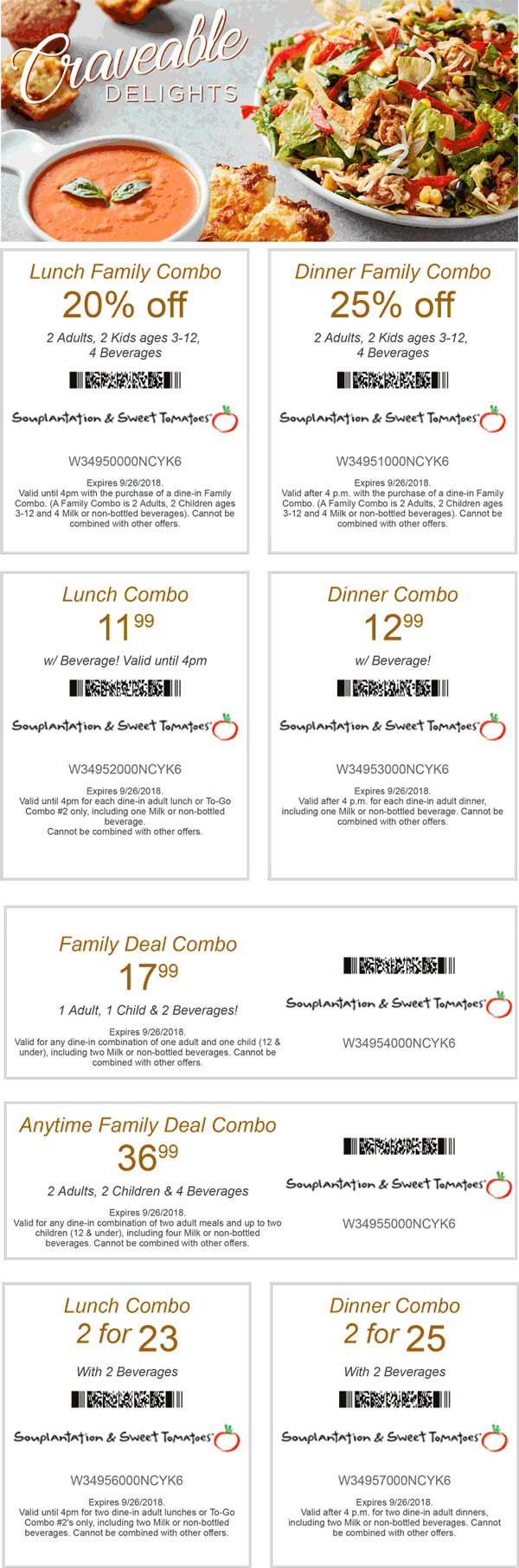 Sweet Tomatoes Coupon February 2019 25% off dinner & more at Souplantation & Sweet Tomatoes