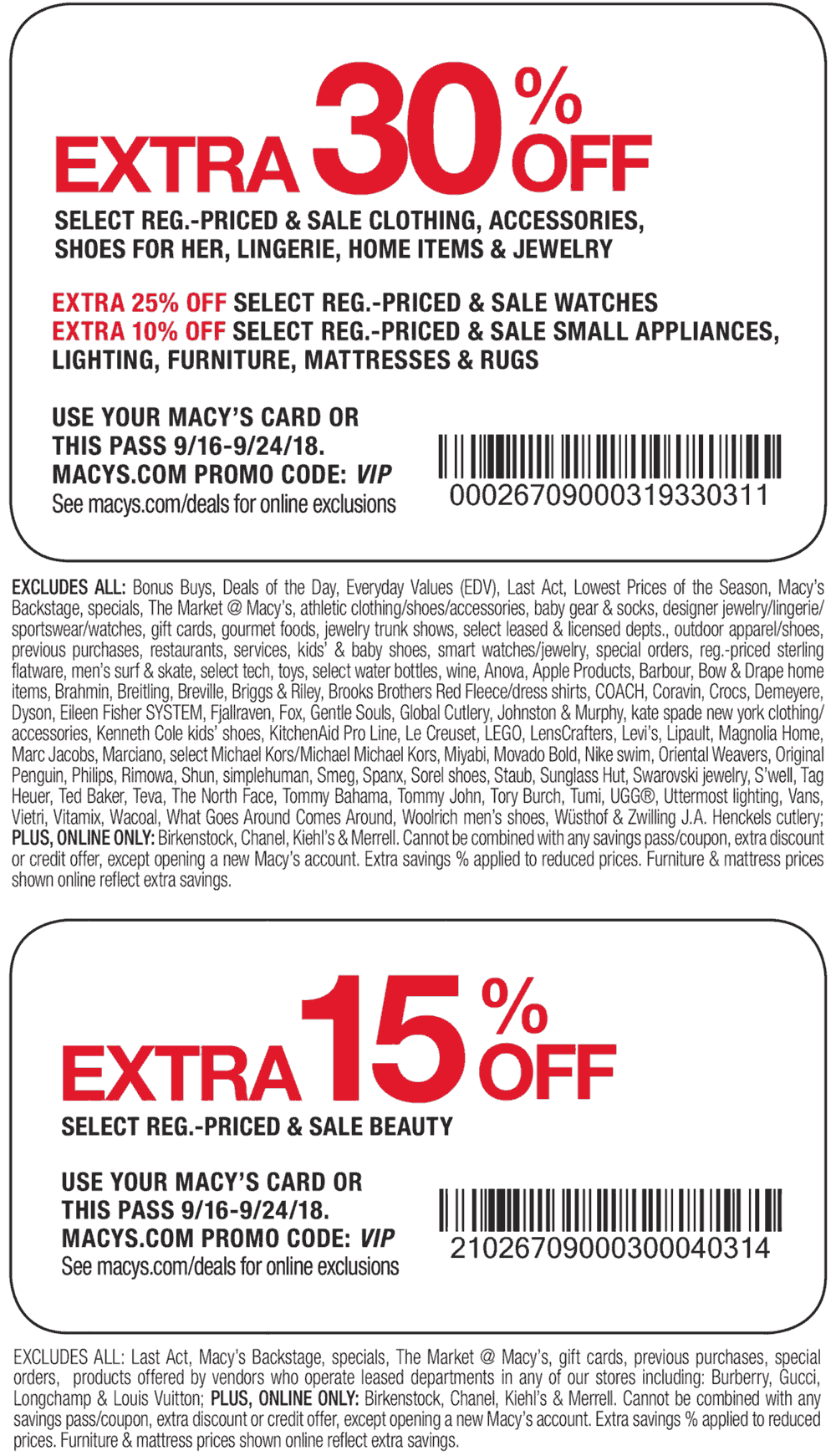 Macys Coupon May 2019 Extra 30% off at Macys, or online via promo code VIP