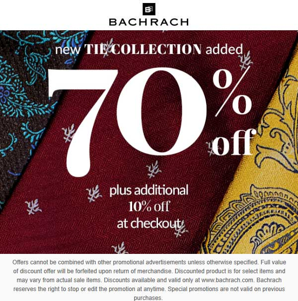 Bachrach Coupon May 2019 80% off out-of-business liquidation at Bachrach