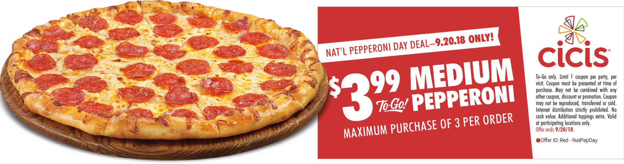 Cicis Coupon May 2019 $4 pizza today at Cicis restaurants