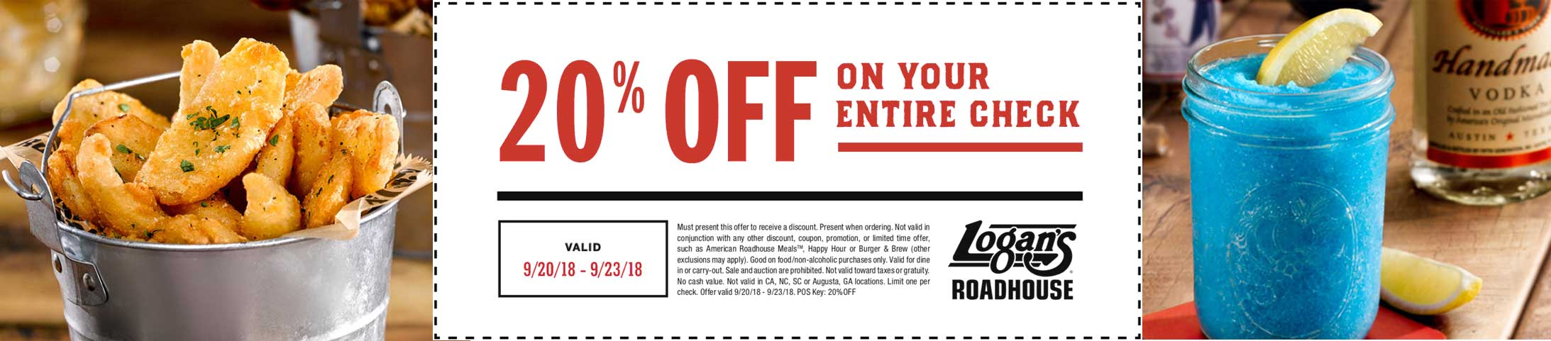 Logans Roadhouse Coupon August 2019 20% off at Logans Roadhouse restaurants