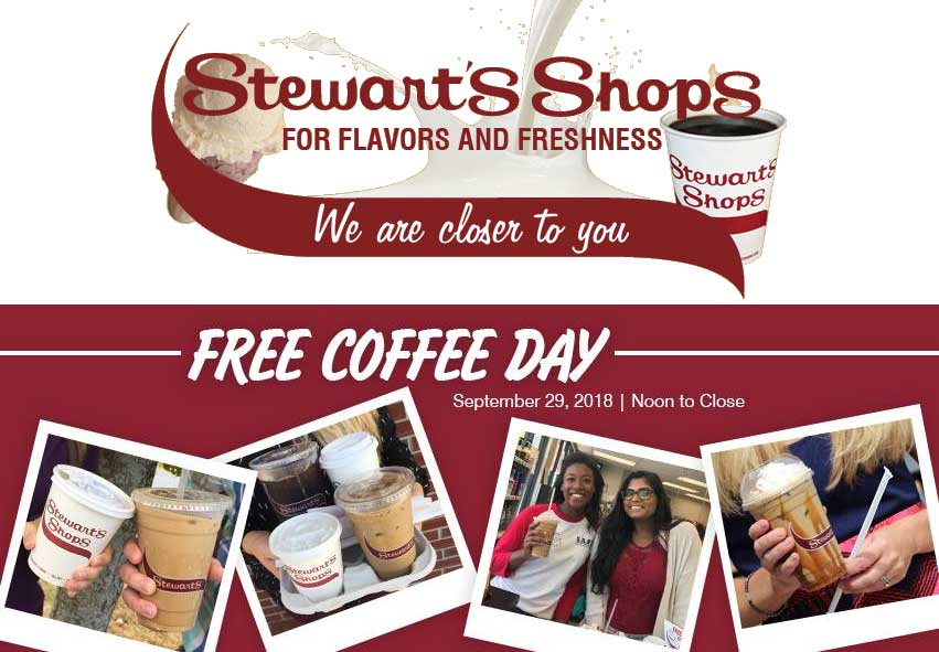 Stewarts Shops Coupon July 2019 Free coffee Saturday at Stewarts Shops