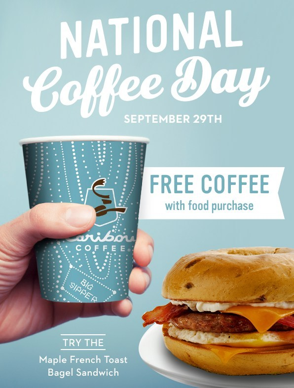 Caribou Coffee Coupon November 2018 Free coffee with your food Saturday at Caribou Coffee
