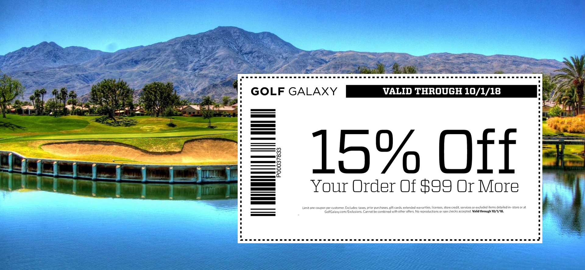 GolfGalaxy.com Promo Coupon 15% off $99 at Golf Galaxy