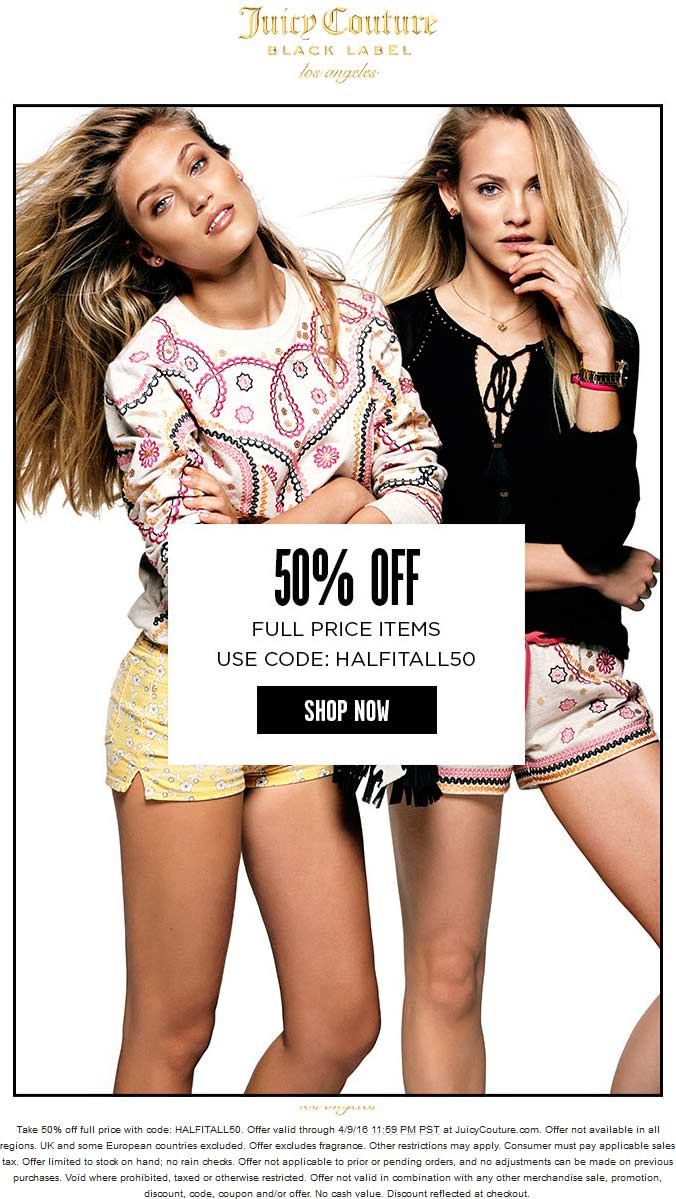 Juicy Couture coupons & promo code for [June 2020]