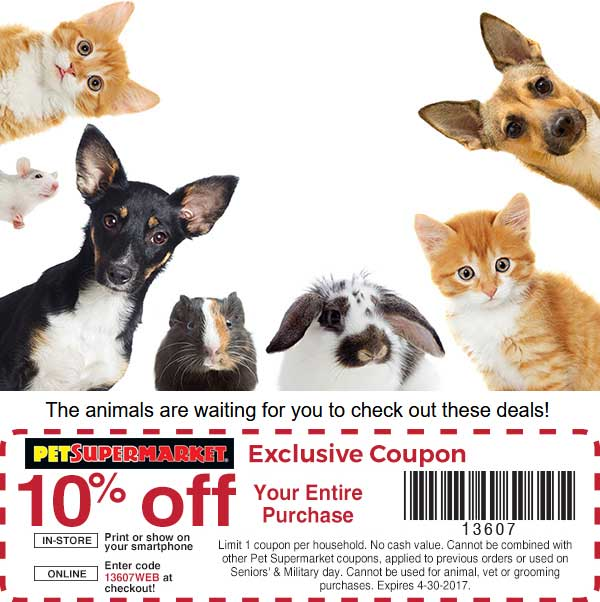 picture relating to Pet Supermarket Coupons Printable named Doggy Grocery store discount coupons - 10% off every little thing at Canine