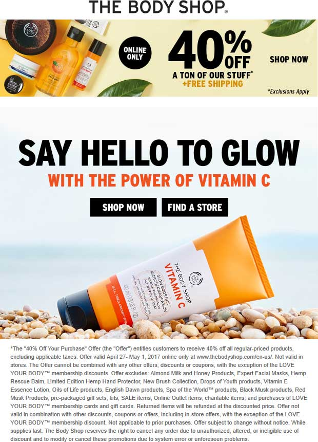 The Body Shop coupons & promo code for [June 2020]