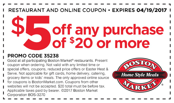 boston market buy one get one free 2017