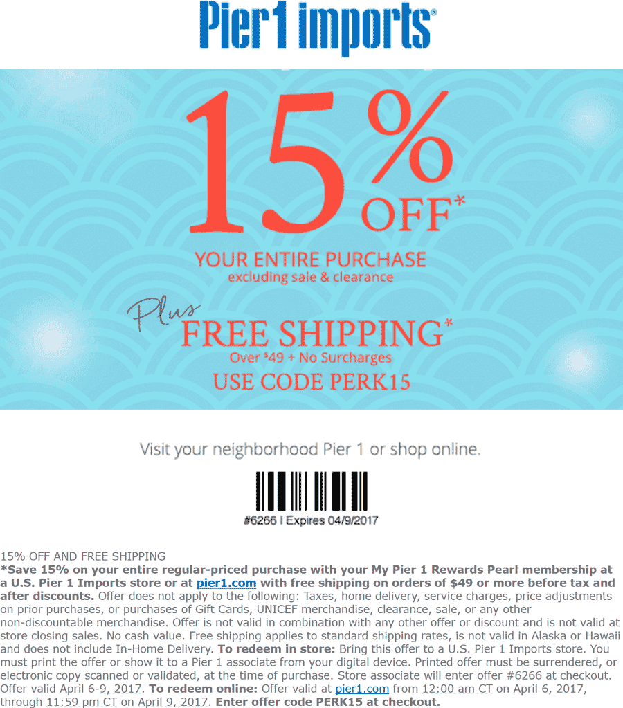online coupons pier 1 imports