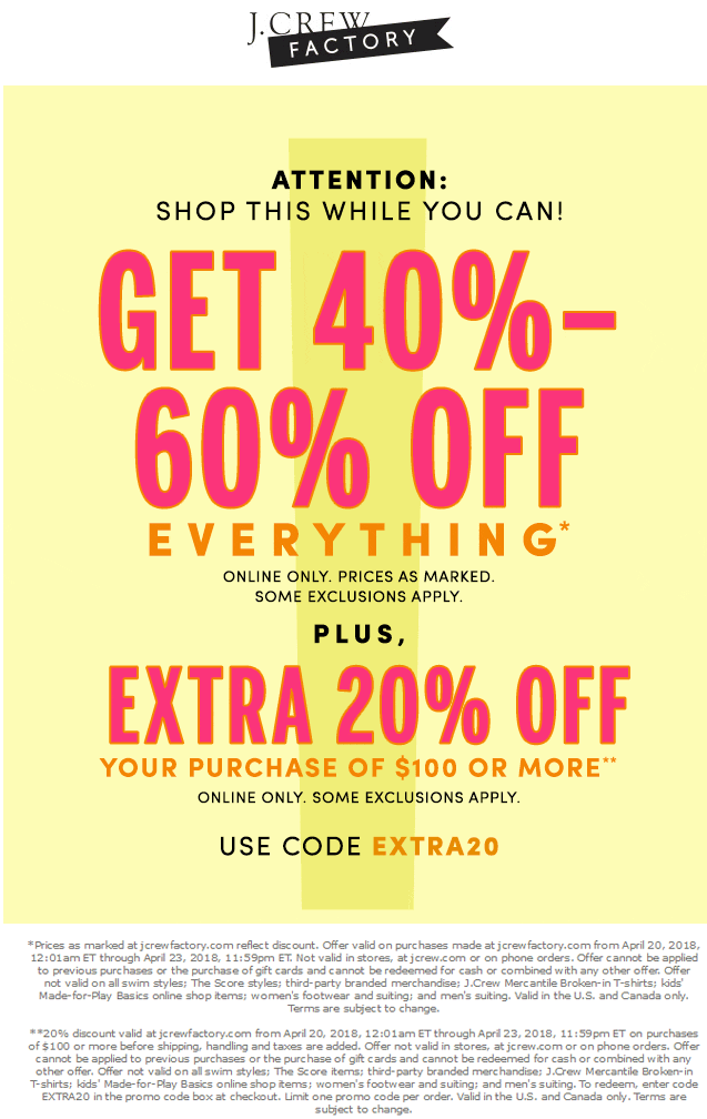 j crew factory coupons 2019