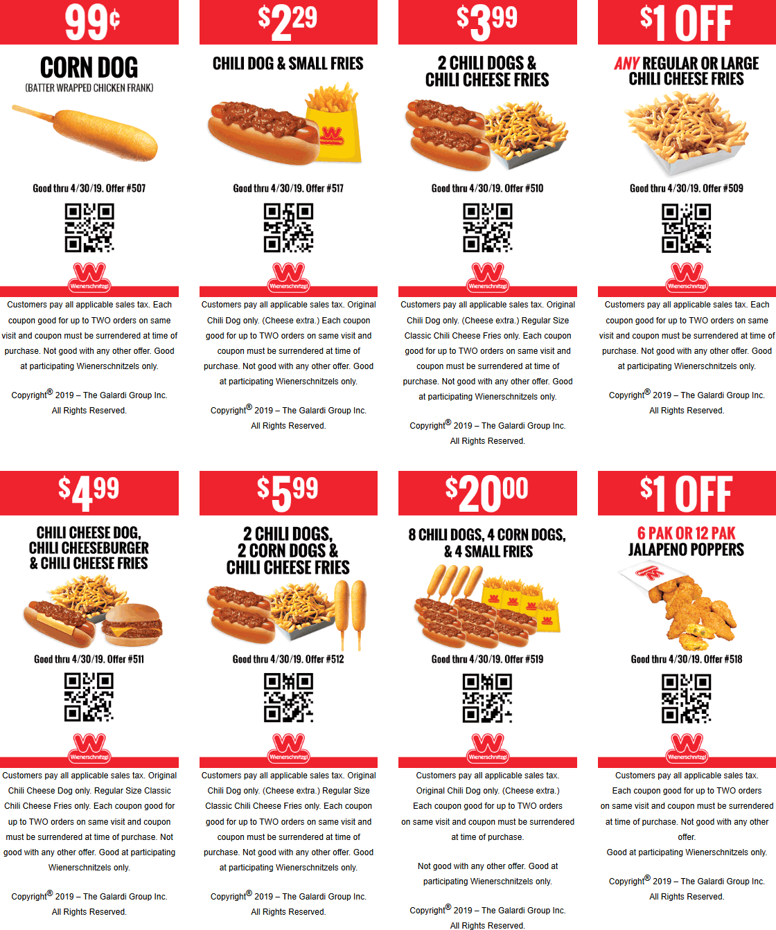 Wienerschnitzel Coupon November 2019 $1 corn dogs & more at Wienerschnitzel restaurants