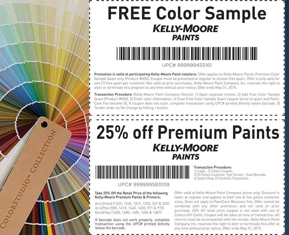 Kelly-Moore Coupon January 2020 25% off & more at Kelly-Moore paints