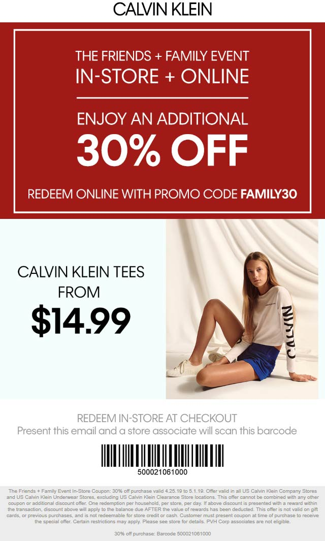 Calvin Klein coupons & promo code for [April 2020]