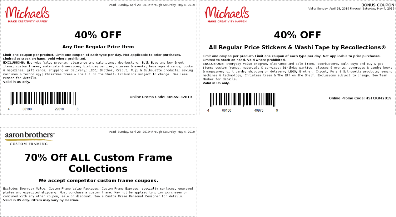 Michaels coupons & promo code for [September 2020]