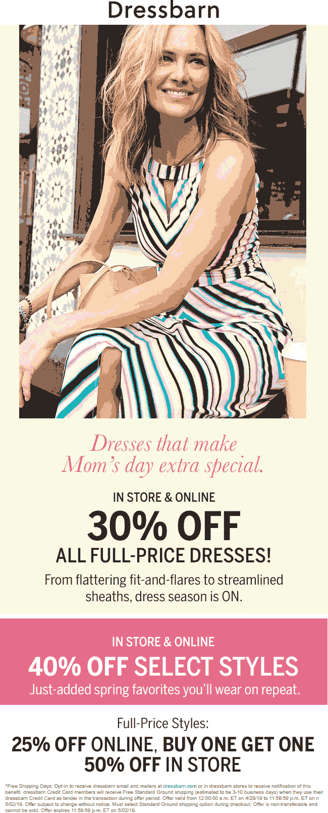 Dressbarn Coupon July 2019 30% off dresses & more at Dressbarn, ditto online
