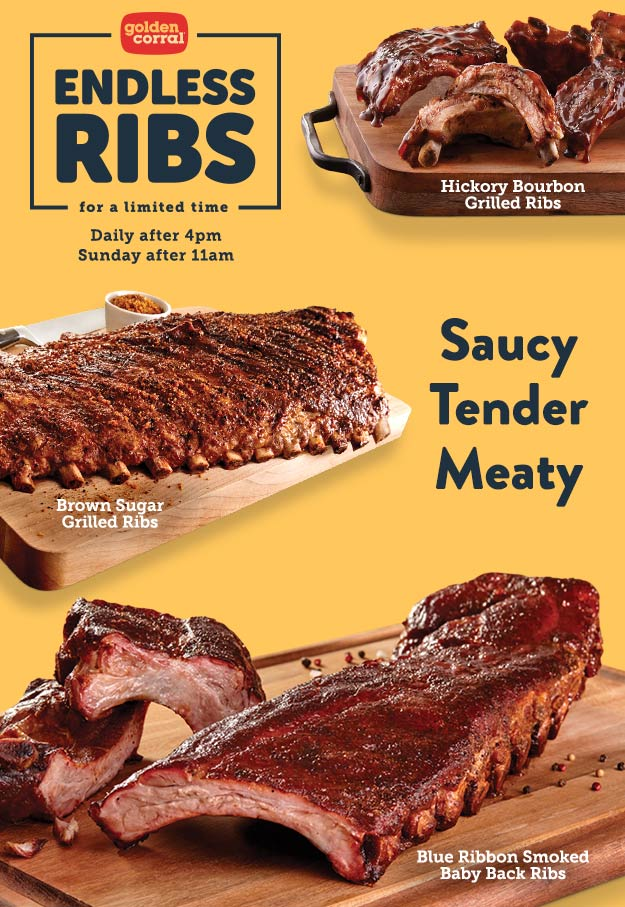 Golden Corral Coupon August 2019 Bottomless ribs added to dinner menu at Golden Corral buffet
