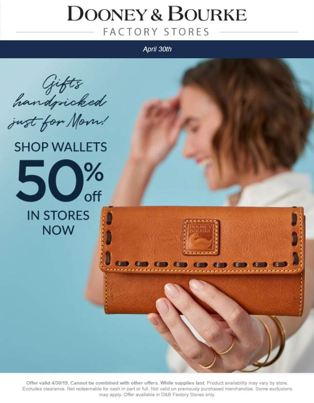 Dooney & Bourke Factory coupons & promo code for [April 2020]
