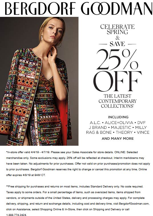 Bergdorf Goodman coupons & promo code for [July 2020]