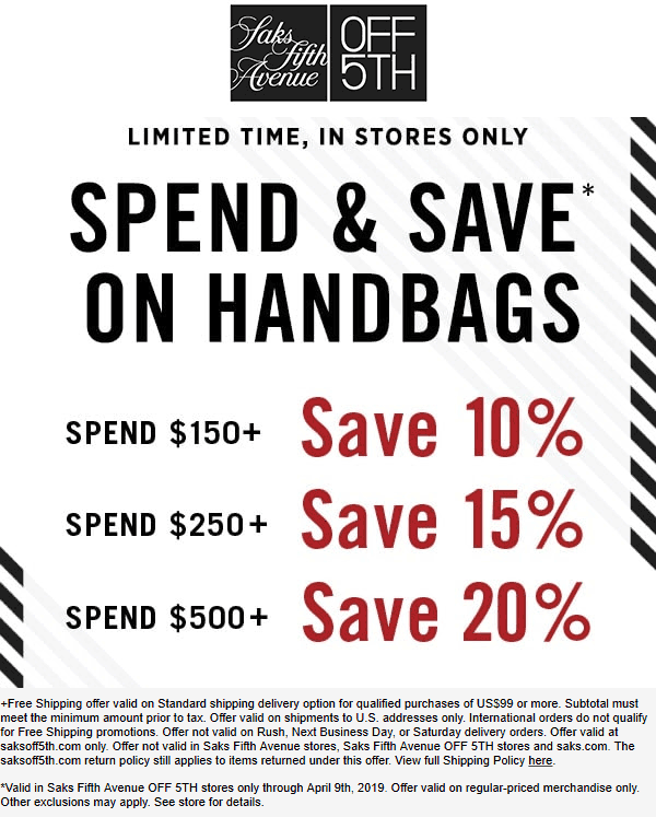 OFF 5TH coupons & promo code for [April 2020]