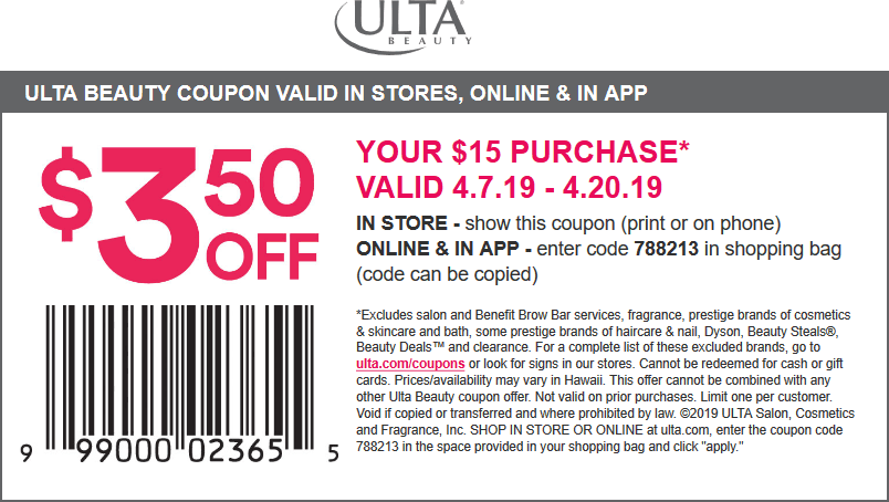 Ulta coupons & promo code for [September 2020]
