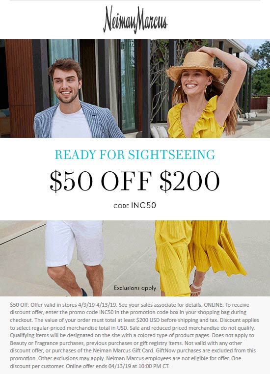 Neiman Marcus coupons & promo code for [October 2020]