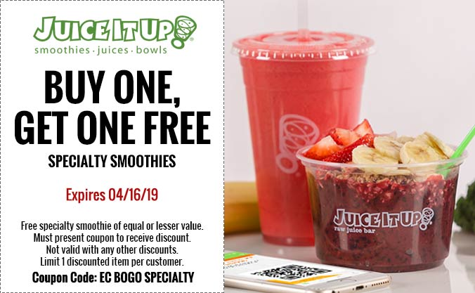Juice It Up coupons & promo code for [July 2020]
