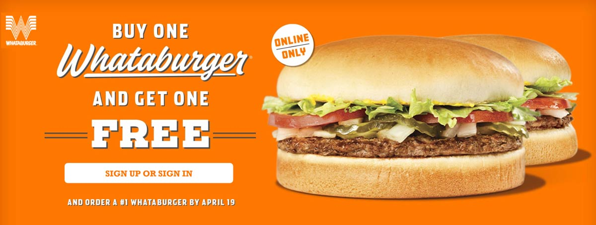 Whataburger coupons & promo code for [April 2021]