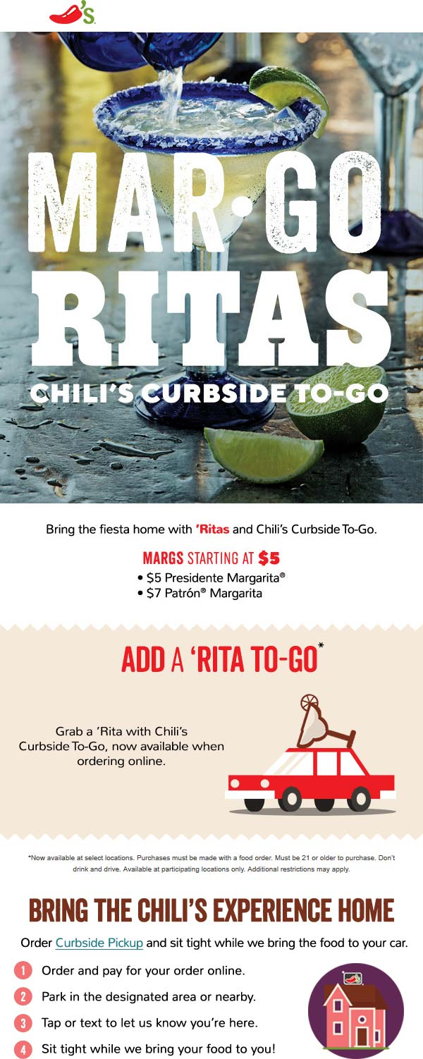 Chilis coupons & promo code for [June 2020]