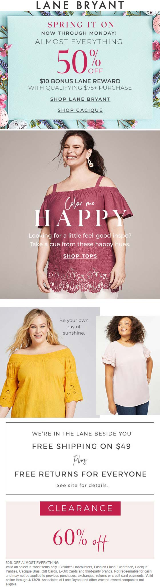 Lane Bryant coupons & promo code for [October 2020]