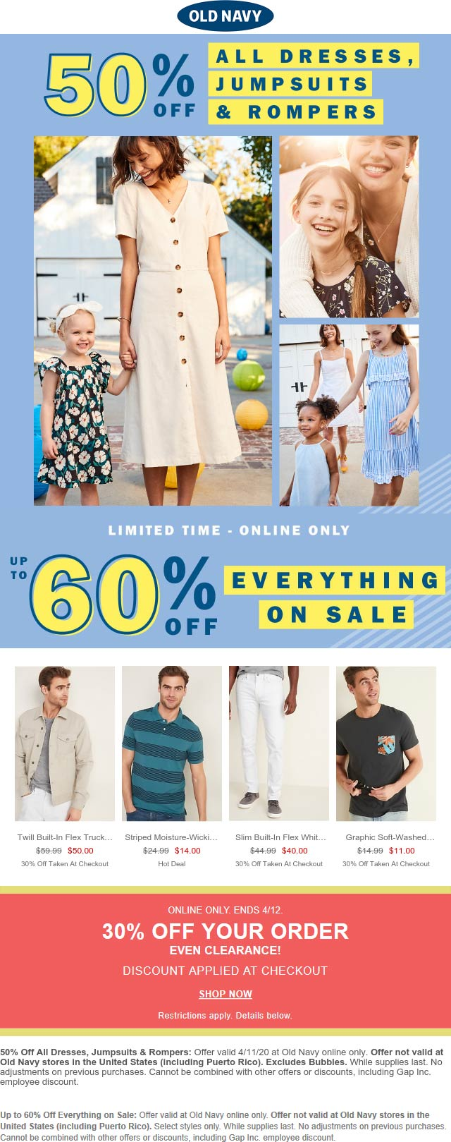 Old Navy coupons & promo code for [June 2020]