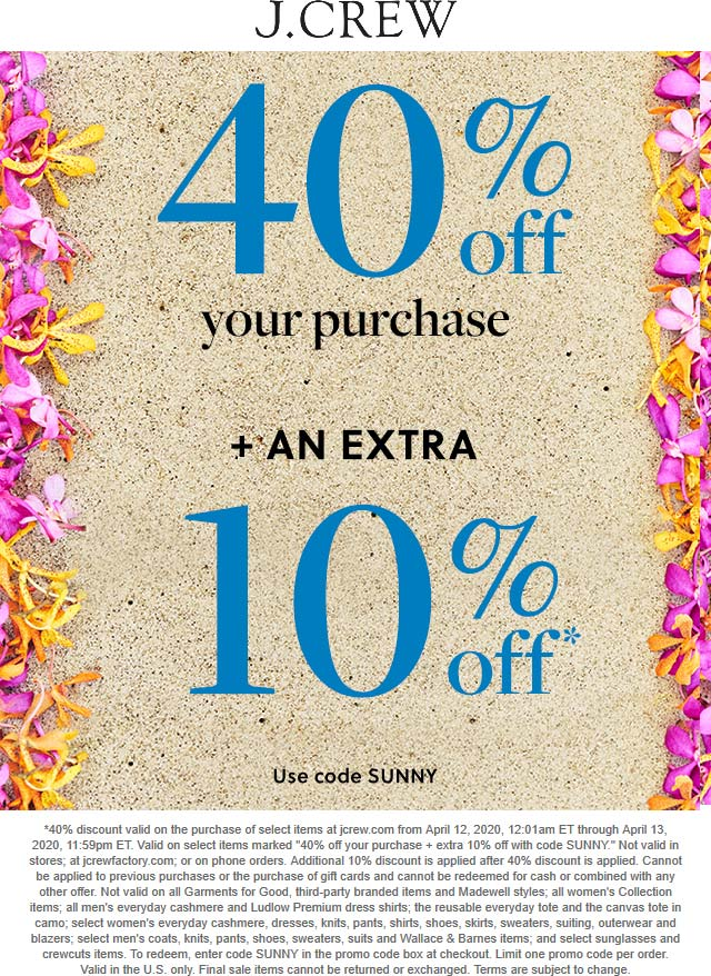 J.Crew coupons & promo code for [April 2021]