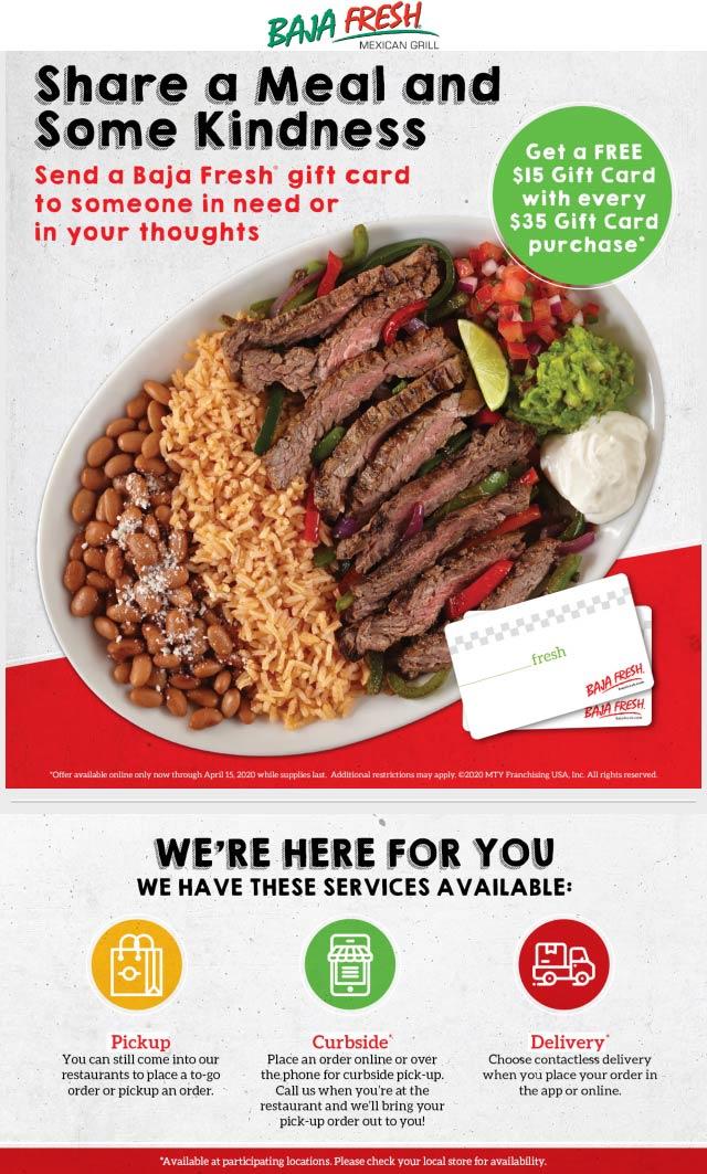 Baja Fresh coupons & promo code for [January 2021]