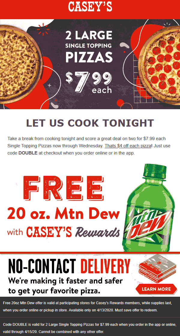 Caseys coupons & promo code for [January 2021]