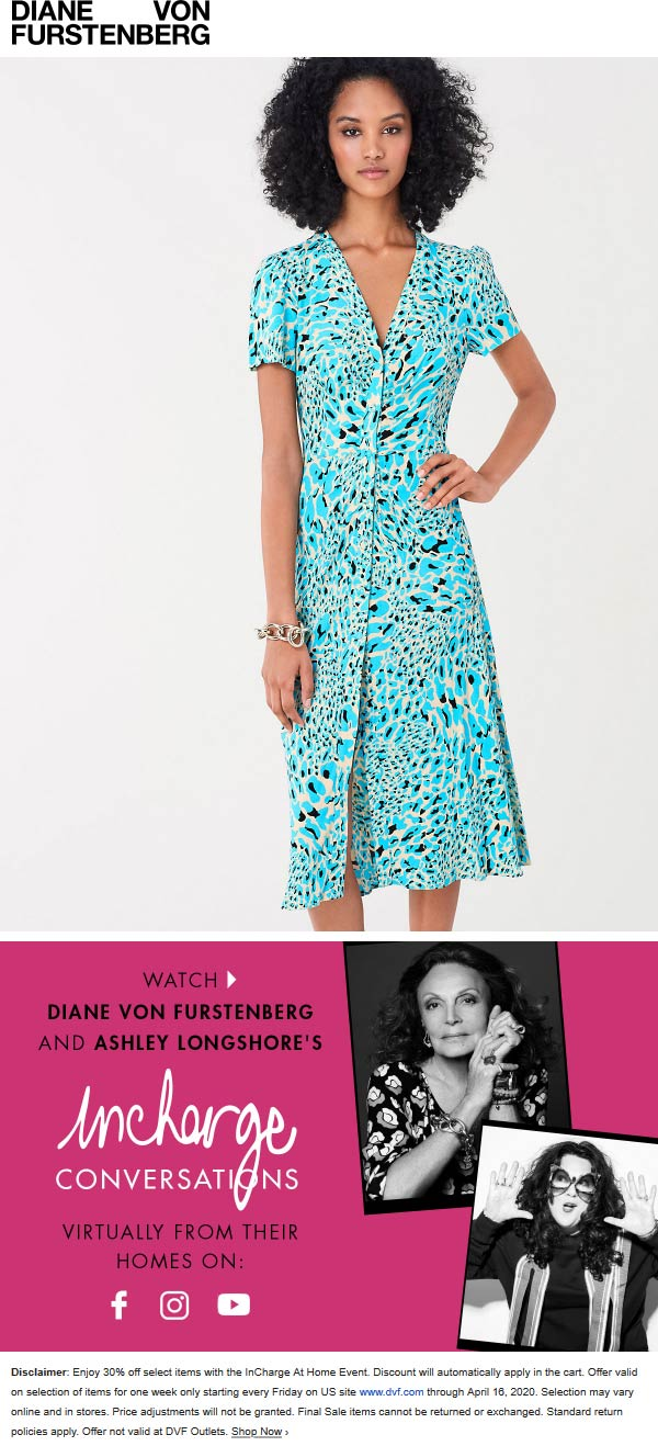 Diane von Furstenberg coupons & promo code for [January 2021]