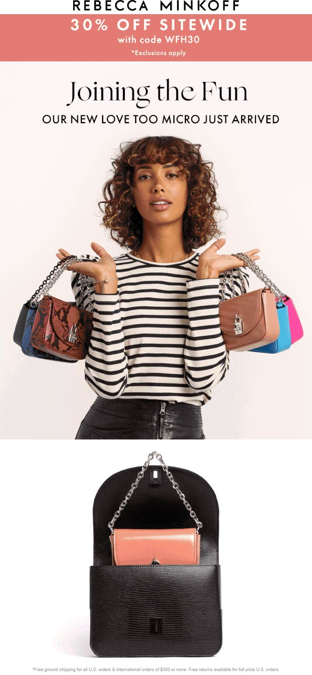 Rebecca Minkoff coupons & promo code for [January 2021]